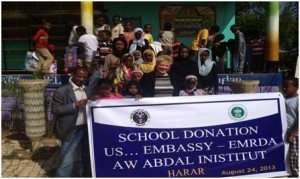 School Materials Donation Program has been made in Harar city funded by US Embassy, Ethiopia
